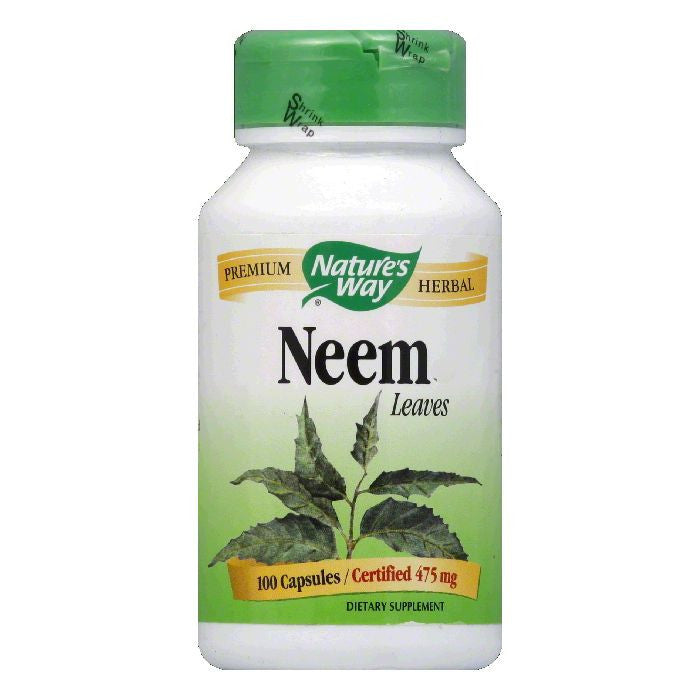 Natures Way Capsules 475 mg Neem Leaves, 100 ea