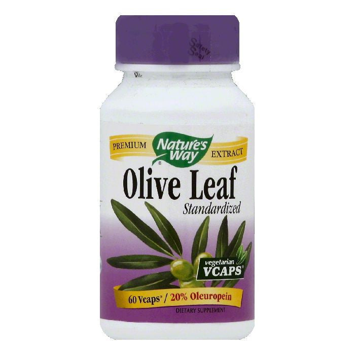 Natures Way Vegetarian Vcaps Standardized Olive Leaf, 60 ea