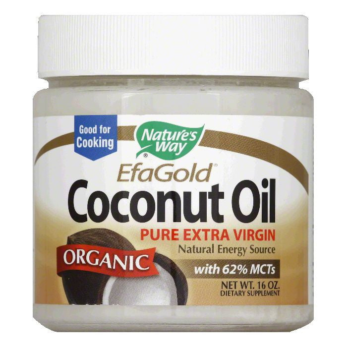 Natures Way Pure Extra Virgin Organic Coconut Oil, 16 Oz