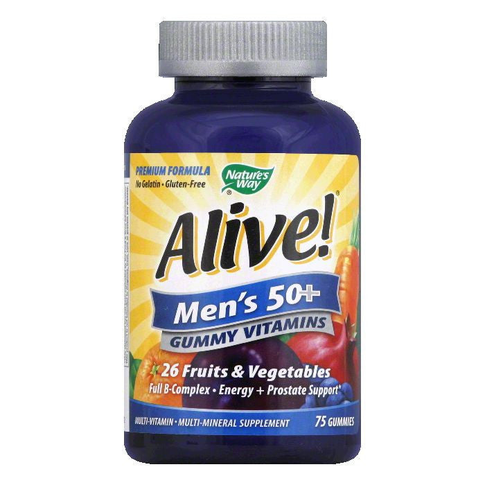 Natures Way Gummies Men's 50+ Vitamins, 75 ea
