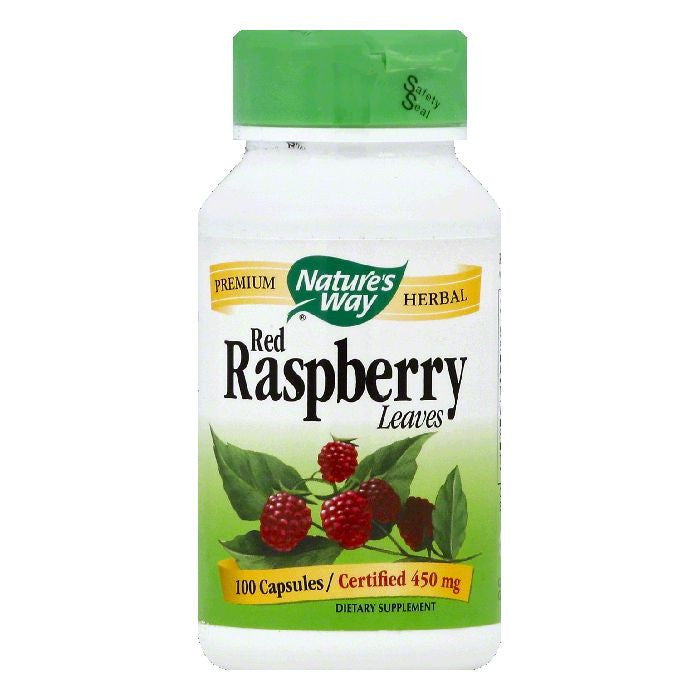 Natures Way Capsules 450 mg Red Raspberry Leaves, 100 ea