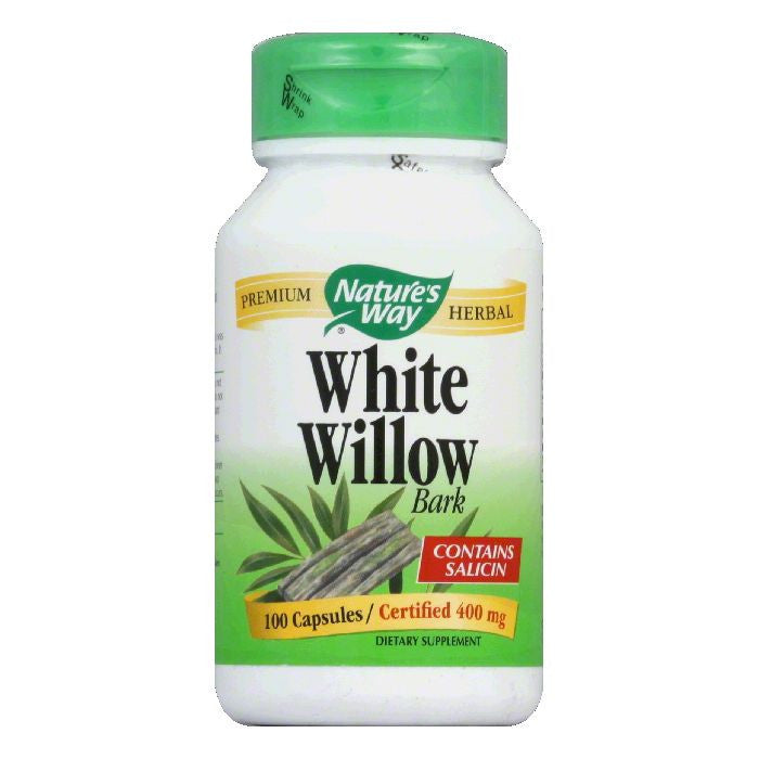 Natures Way Capsules 400 mg White Willow Bark, 100 ea