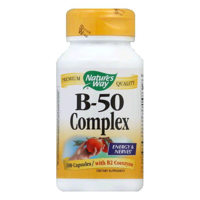 Natures Way Capsules B-50 Complex, 100 ea