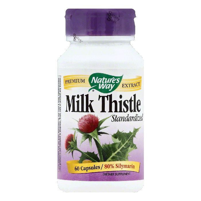 Natures Way Capsules Standardized Milk Thistle, 60 ea