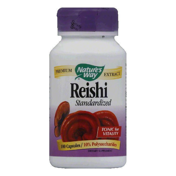 Natures Way Capsules Standardized Reishi, 100 ea