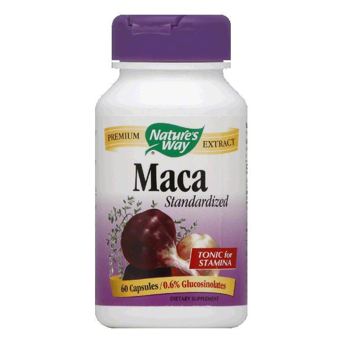 Natures Way Capsules Standardized Maca, 60 CP