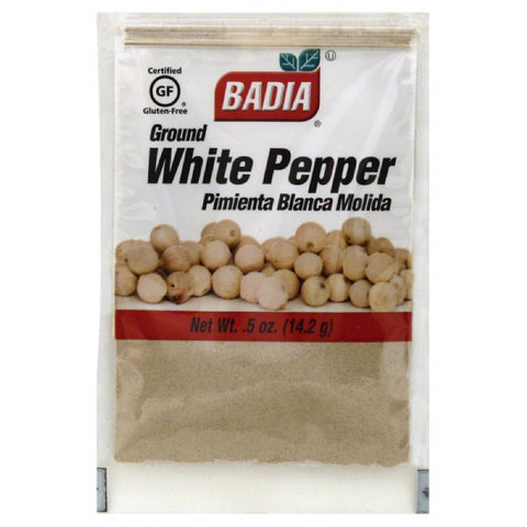 Badia Ground  White Pepper, 0.5 Oz (Pack of 12)