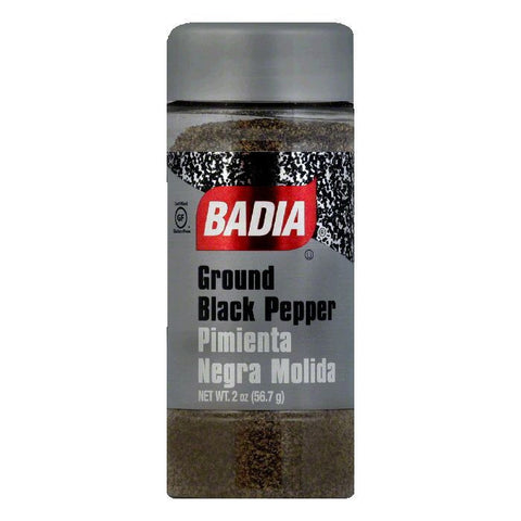 Badia Black Pepper Ground, 2 OZ (Pack of 12)