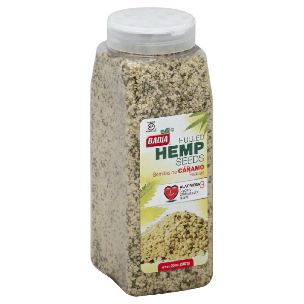 Badia Hulled Hemp Seeds, 20 Oz (Pack of 6)