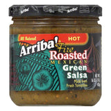 Arriba Salsa Hot Green, 16 OZ (Pack of 6)