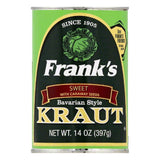 Frank's Sweet Bavarian Style Kraut, 14 OZ (Pack of 24)