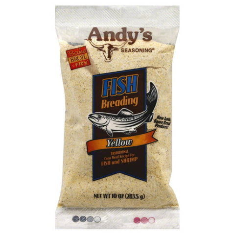 Andys Seasoning Yellow Fish Breading, 10 Oz (Pack of 12)