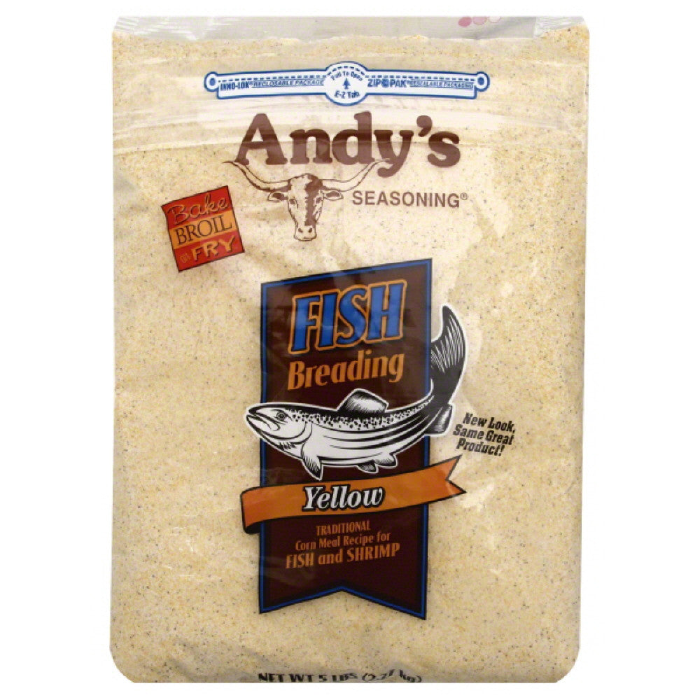 Andys Seasoning Yellow Fish Breading, 5 Lb (Pack of 6)