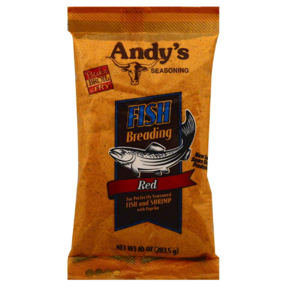 Andys Seasoning Red Fish Breading, 10 Oz (Pack of 12)