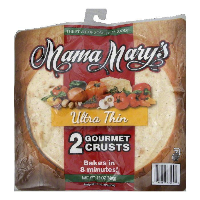 Mama Marys Ultra Thin Gourmet Crusts, 2 ea (Pack of 12)