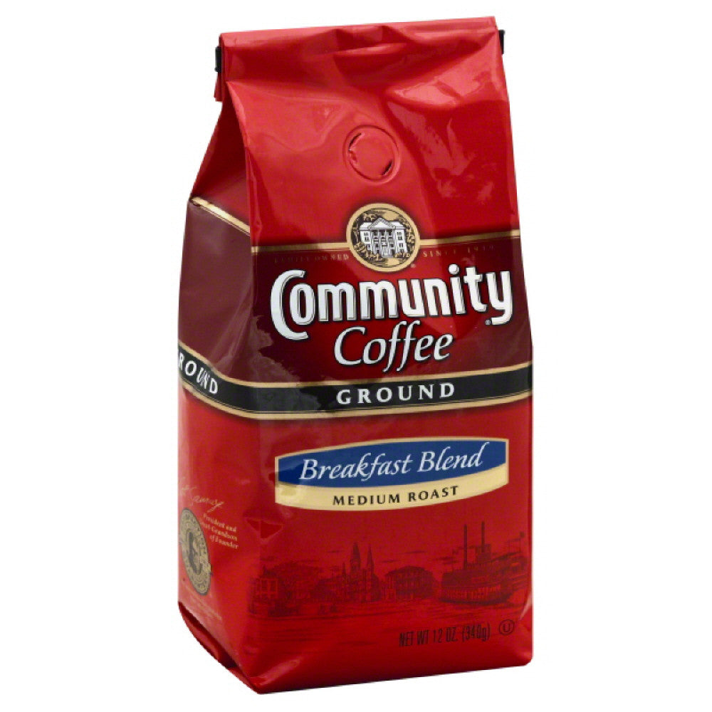 Community Breakfast Blend Medium Roast Ground Coffee, 12 Oz (Pack of 6)