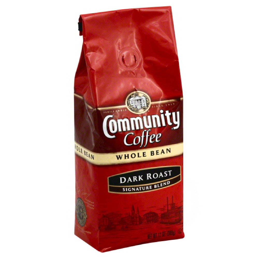 Community Signature Blend Dark Roast Whole Bean Coffee, 12 Oz (Pack of 6)