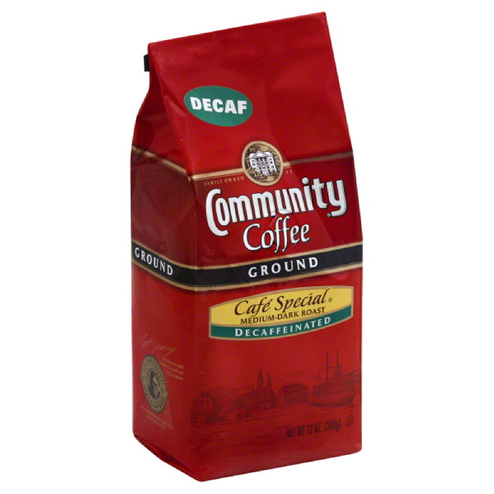 Community Decaffeinated Cafe-Special Medium-Dark Roast Ground Coffee, 12 Oz (Pack of 6)
