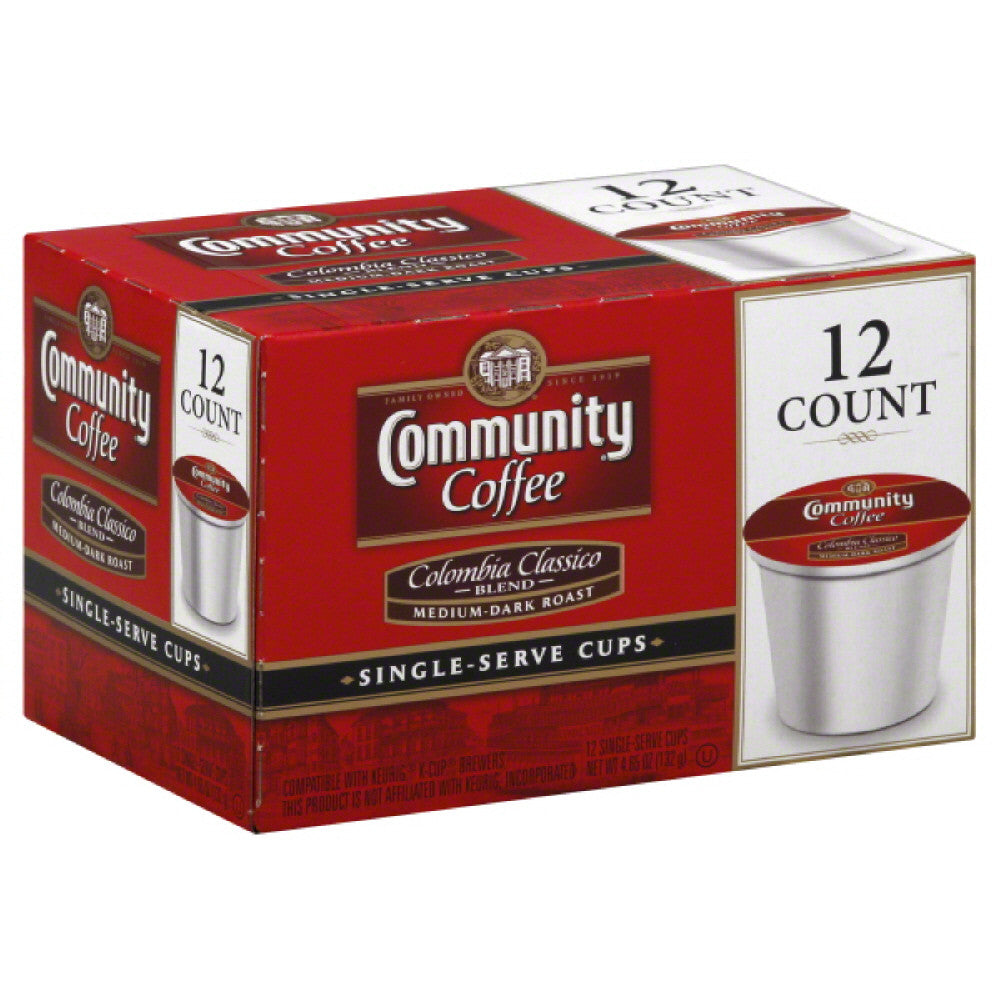 Community Medium-Dark Roast Columbia Classico Blend Coffee Single Serve Cups, 12 Pc (Pack of 6)