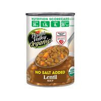 Health Valley Soup Lentil No Salt Organic, 15 OZ (Pack of 6)