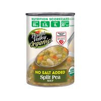 Health Valley No Salt Added Organic Split Pea Soup, 15 Oz (Pack of 12)