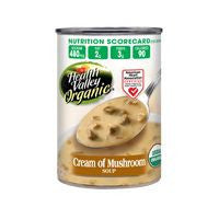 Health Valley Cream of Mushroom Organic Soup, 14.5 OZ (Pack of 12)
