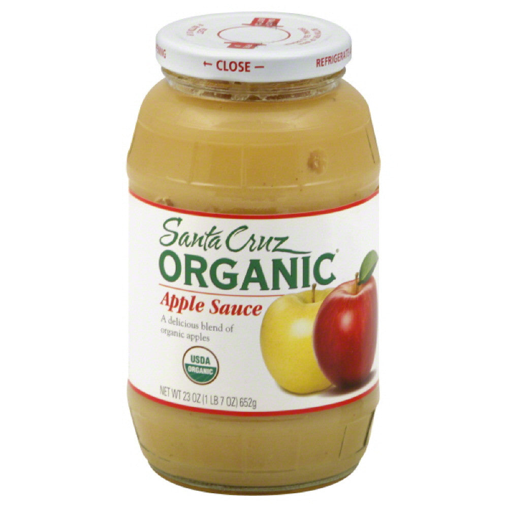 Santa Cruz Apple Sauce, 23 Oz (Pack of 6)