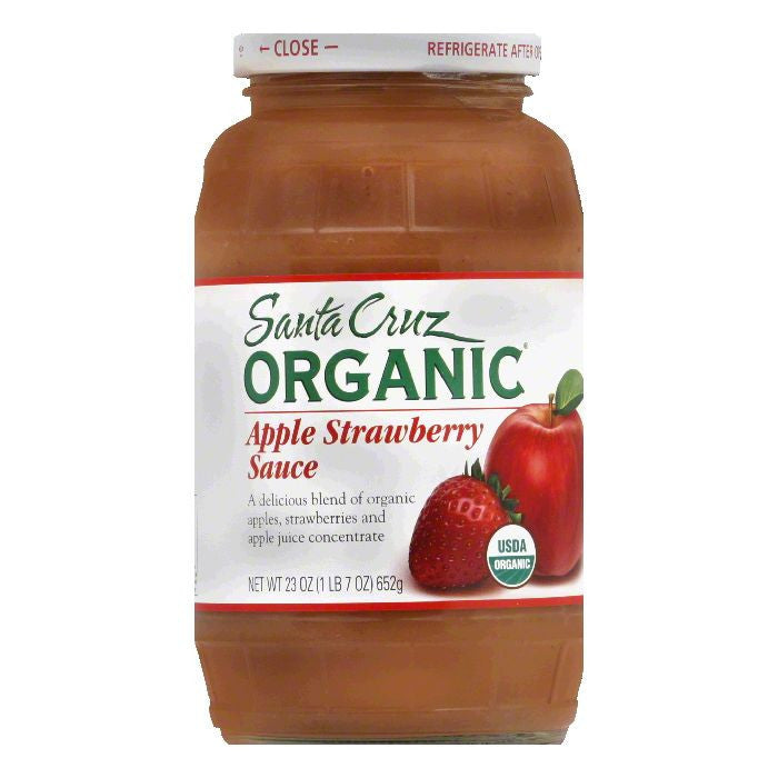 Santa Cruz Organics Apple Strawberry Sauce 23 Oz  (Pack of 6)