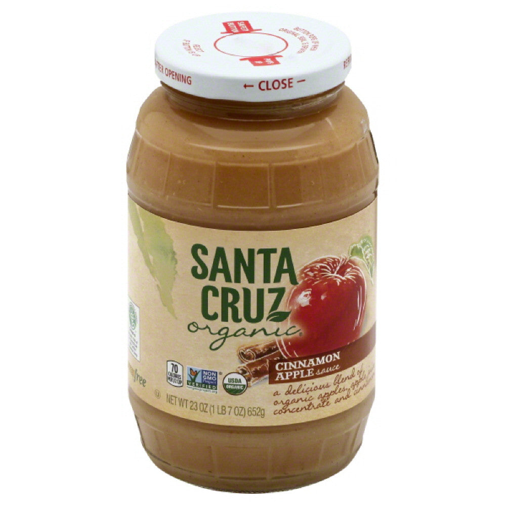 Santa Cruz Cinnamon Apple Sauce, 23 Oz (Pack of 6)