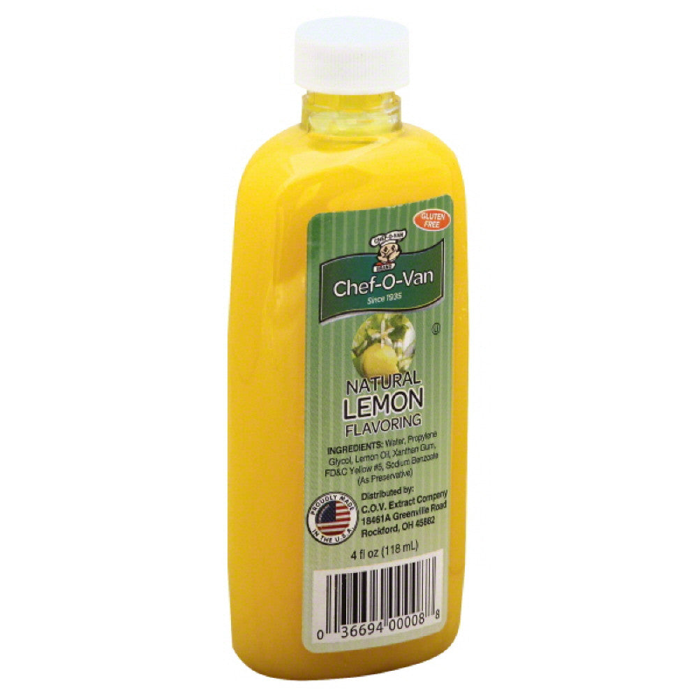 Chef O Van Natural Lemon Flavor, 4 Oz (Pack of 12)