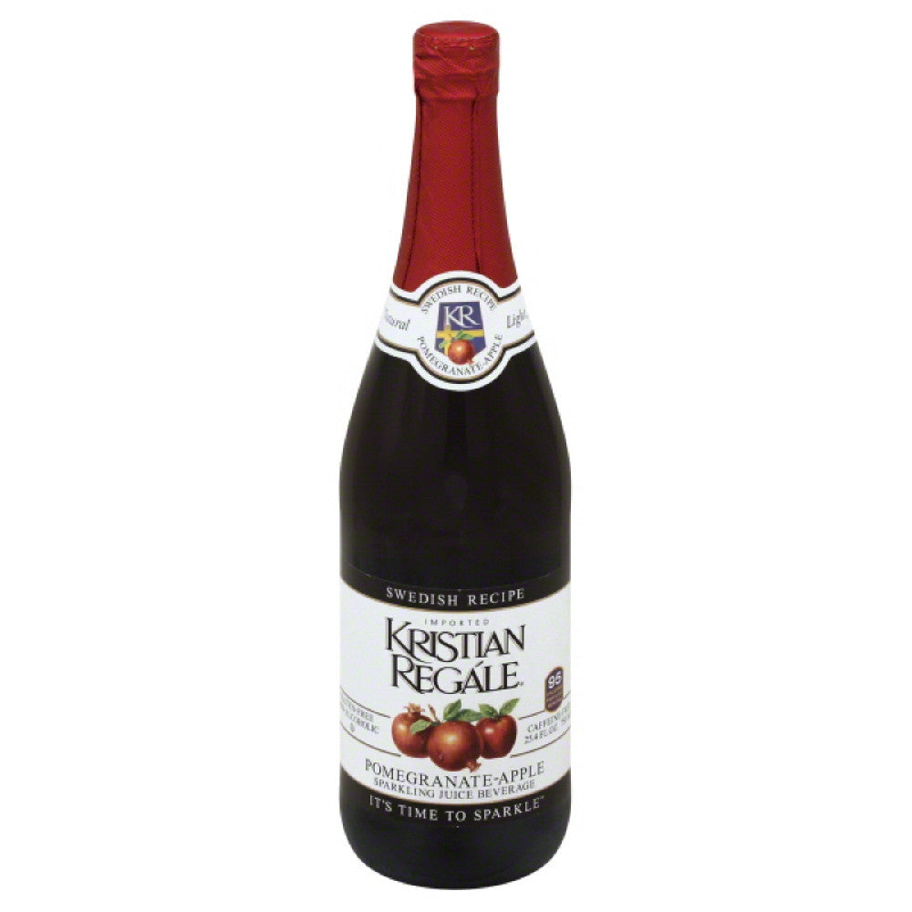 Kristian Regale Pomegranate-Apple Swedish Recipe Sparkling Juice Beverage, 25.4 Fo (Pack of 12)