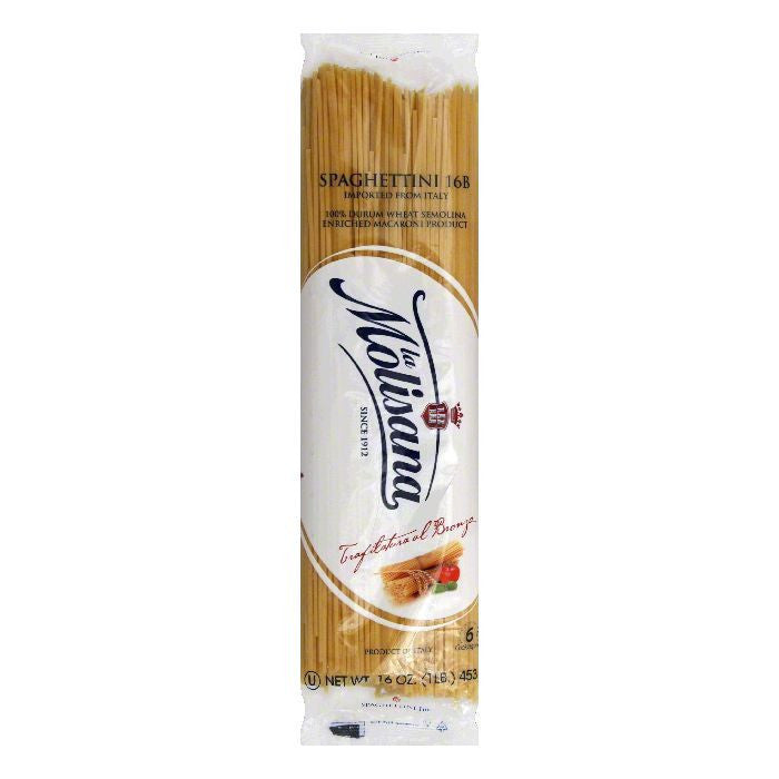 La Molisana Spaghettini Bronzo, 16 OZ (Pack of 12)