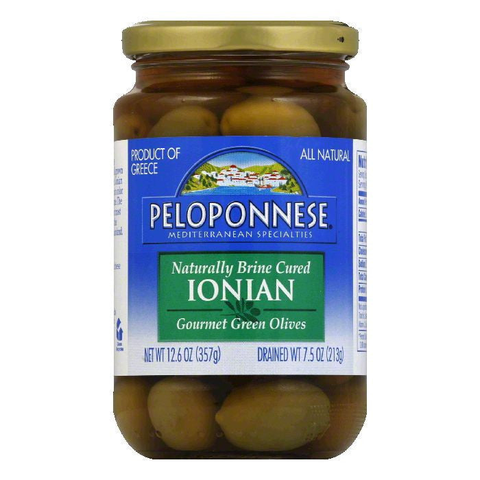 Peloponnese Olives Ionian, 7.5 OZ (Pack of 6)