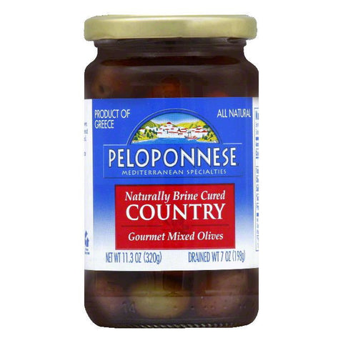 Peloponnese Olives Country Olive Mix, 7 OZ (Pack of 6)