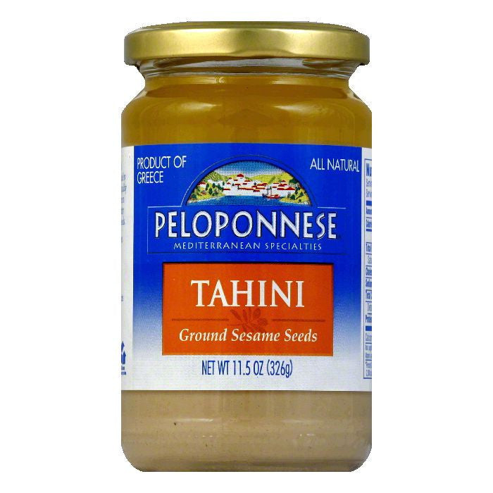 PELOPONNESE Ground Sesame Seeds Tahini  11.5 OZ  (Pack of 6)