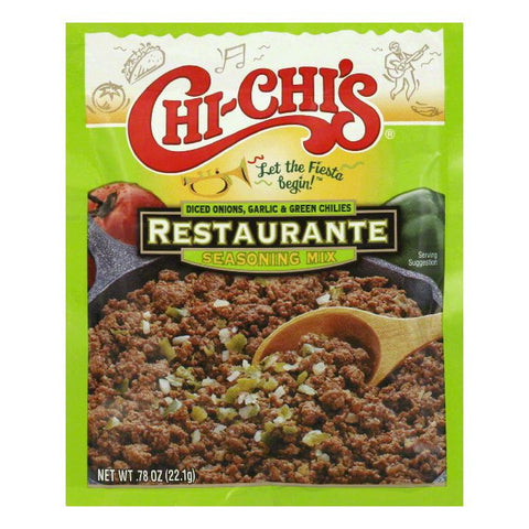 Chi Chi's Fiesta Restaurante Seasoning Mix, 0.78 OZ (Pack of 24)