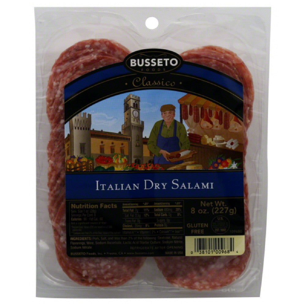 Busseto Italian Dry Salami, 8 Oz (Pack of 12)