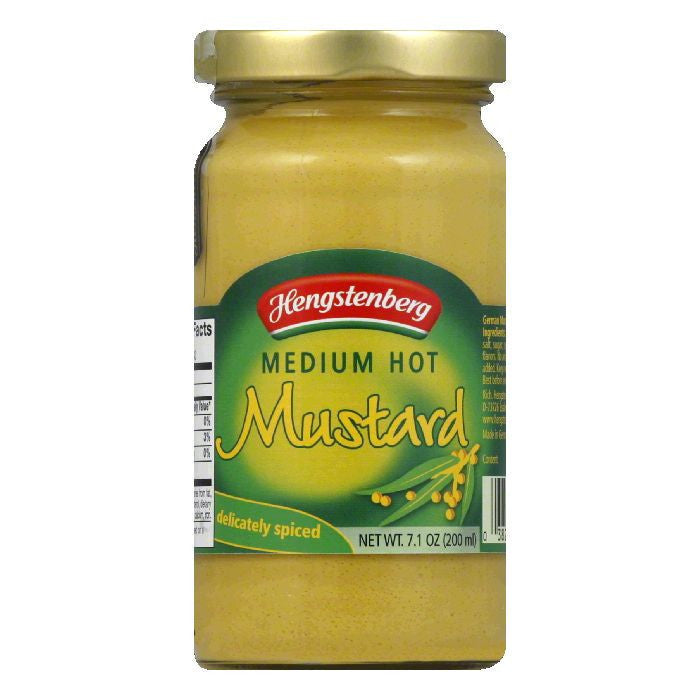 Hengstenberg 1893 Mustard Medium, 7.1 OZ (Pack of 6)