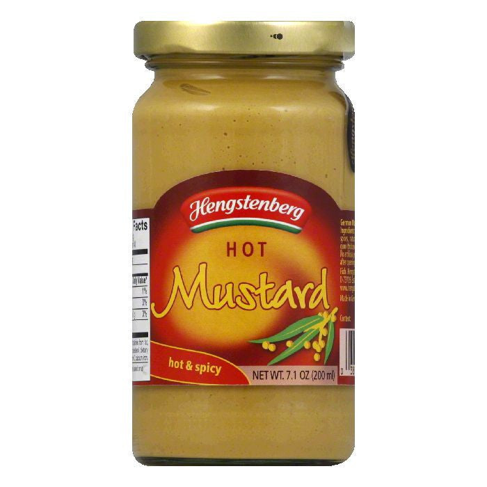 Hengstenberg 1893 Mustard Hot, 7.1 OZ (Pack of 6)