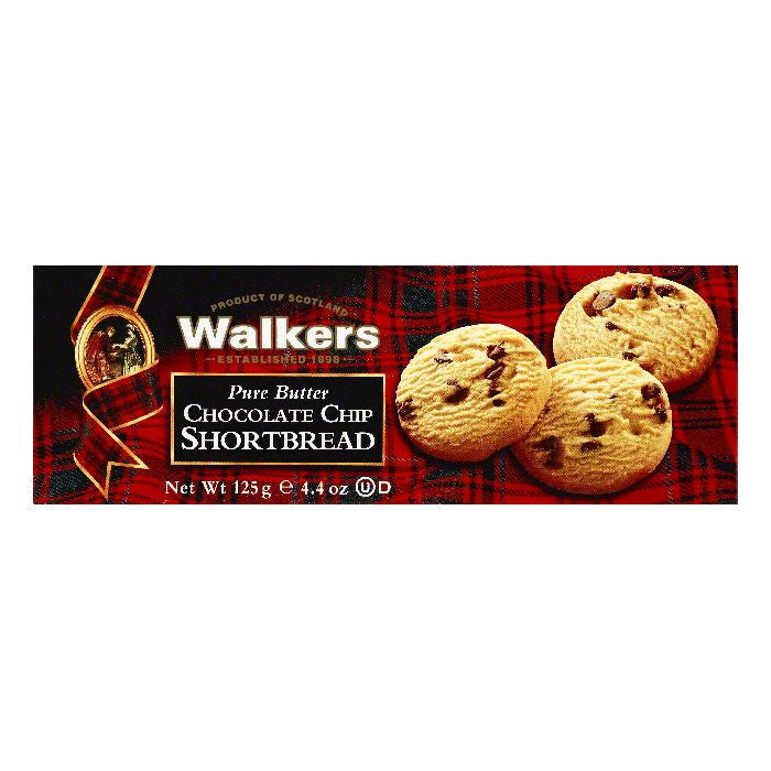 Walkers Chocolate Chip Pure Butter Shortbread, 4.4 OZ (Pack of 12)