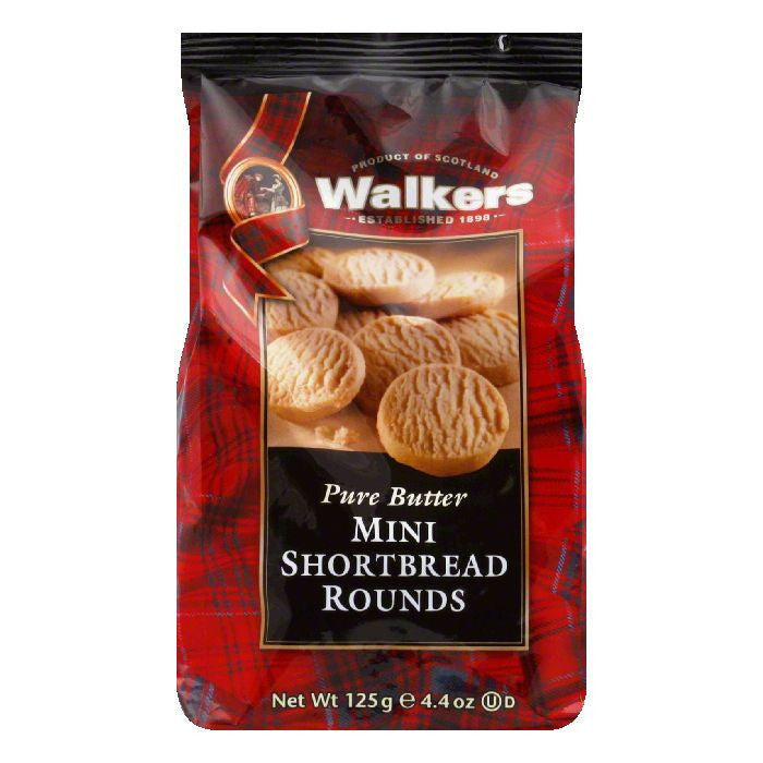 Walkers Mini Round Shortbread, 4.4 OZ (Pack of 6)
