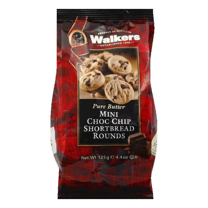 Walkers Mini Chocolate Chip Shortbread, 4.4 OZ (Pack of 6)