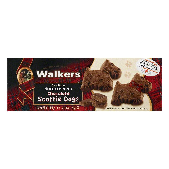 Walkers Chocolate Scottie Dogs Pure Butter Shortbread, 3.9 OZ (Pack of 12)