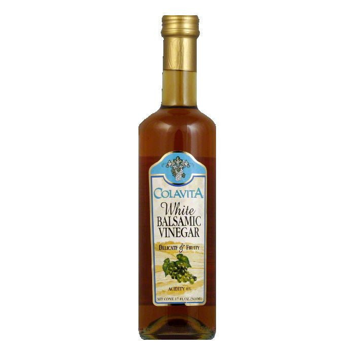 Colavita Vinegar White Balsamic, 16.9 OZ (Pack of 6)