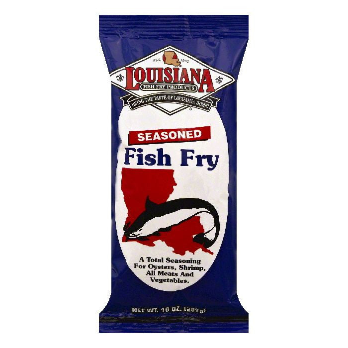 Louisiana Seasoned Fish Fry, 10 OZ (Pack of 12)