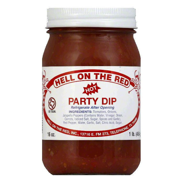 Hell On The Red Hot Texas Party Salsa, 16 OZ (Pack of 12)