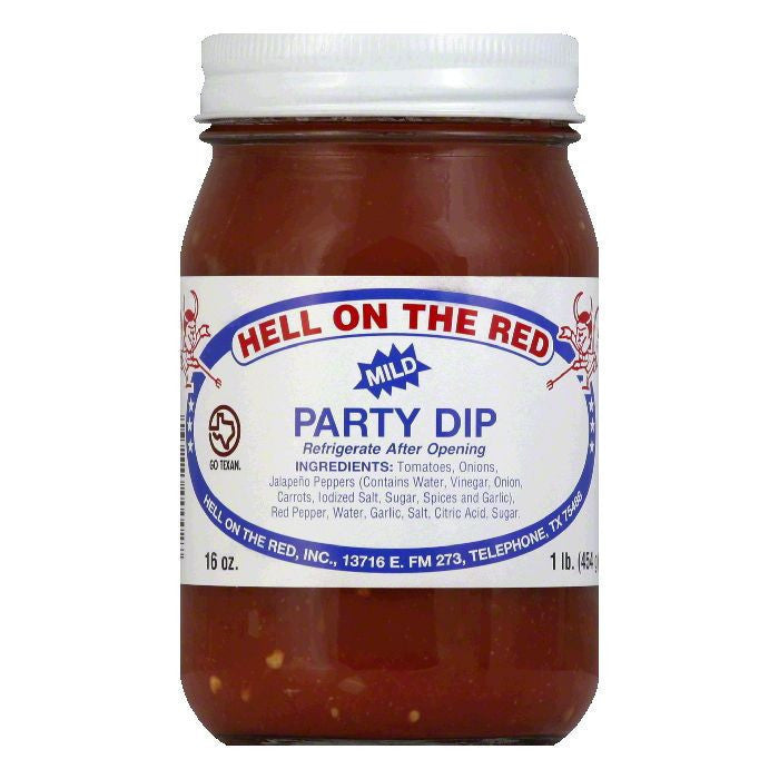 Hell On The Red Texas Mild Party Salsa, 16 OZ (Pack of 12)