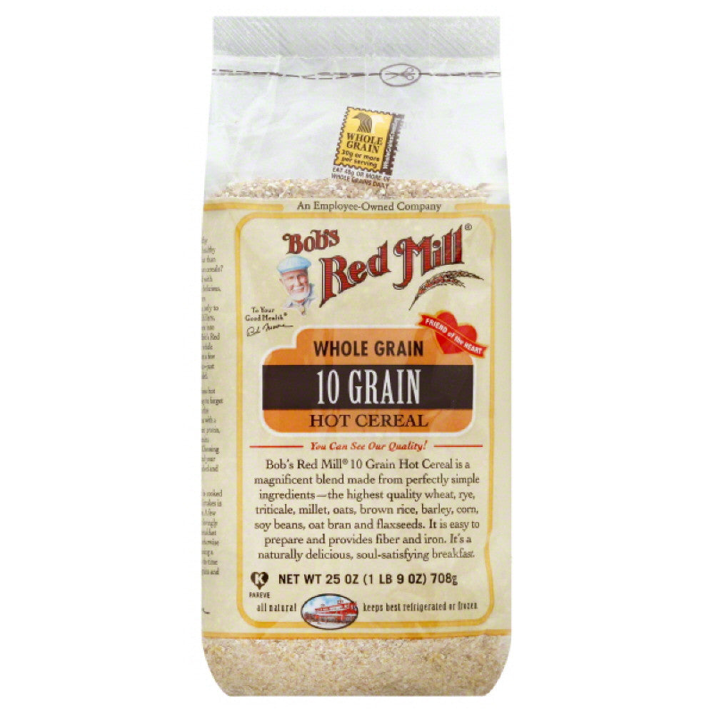 Bobs Red Mill Whole Grain 10 Grain Hot Cereal, 25 Oz (Pack of 4)
