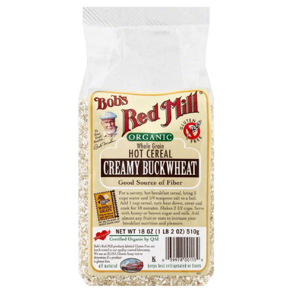Bobs Red Mill Creamy Buckwheat Hot Cereal, 18 Oz (Pack of 4)