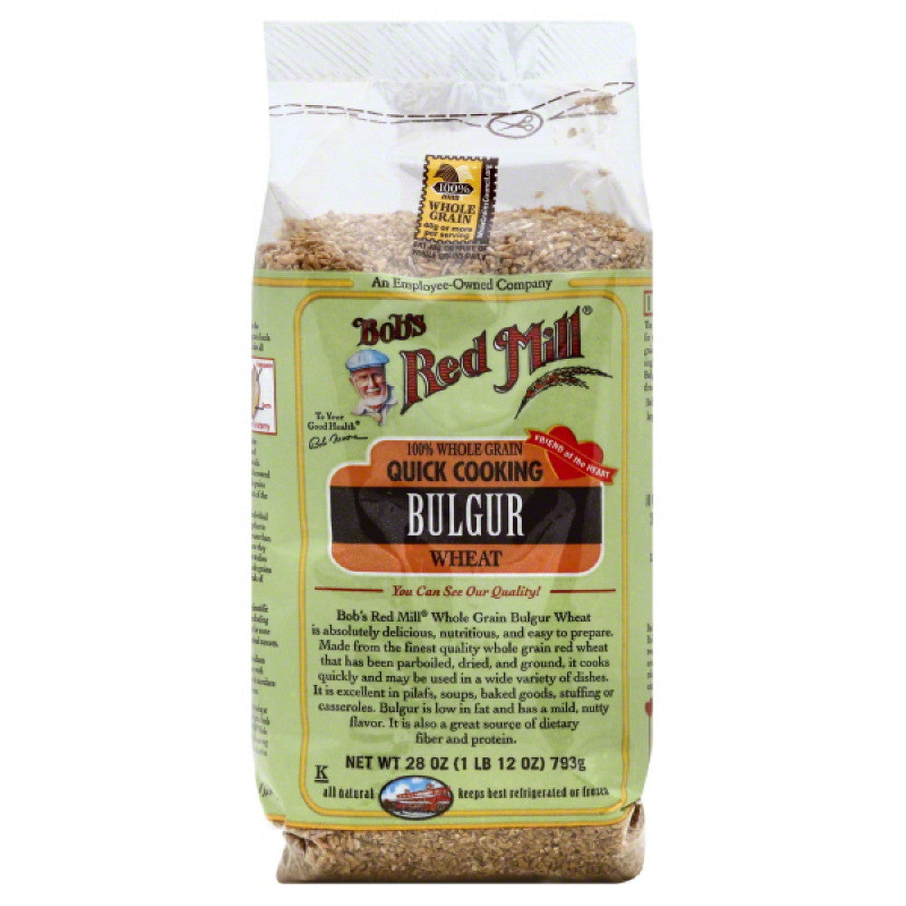 Bobs Red Mill Wheat 100% Whole Grain Bulgur, 28 Oz (Pack of 4)